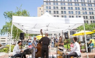 Nate Reeve Quartet feat. Kate Rushin giving the people music and shade.