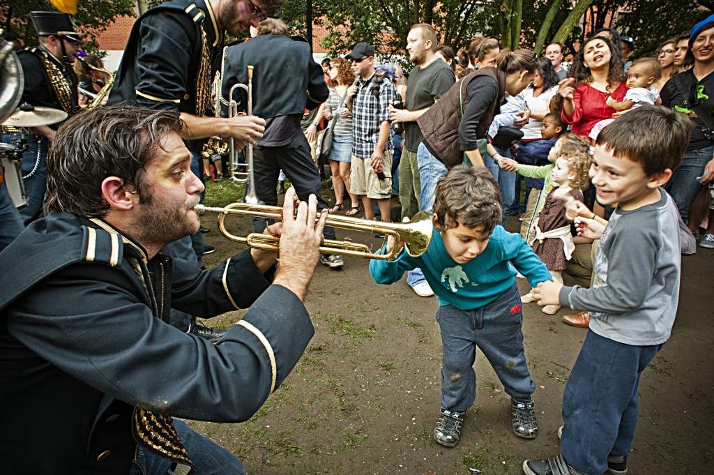 Detroit Party Marching Band at Honk Festival 2012 by Benjamin Greenberg