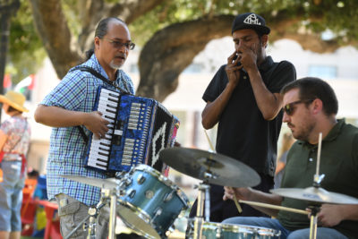 Jamming at Plaza de Cesar Chavez