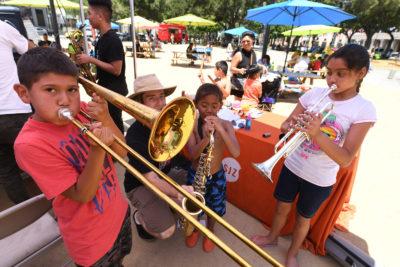 San Jose Jazz Instrument Petting Zoo