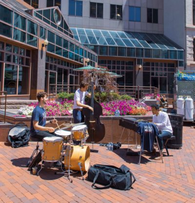 A wonderful jam session in State House Square to engage the community.