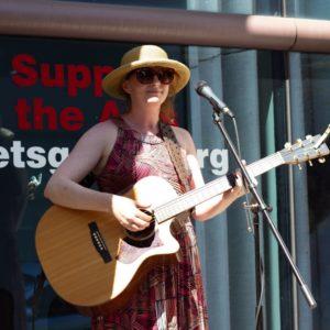 Kate Callahan and her guitar.
