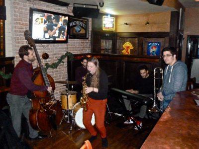 Sarah Hanahan Quintet. Photo by Maurice D. Robertson